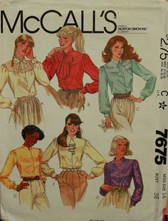 1980s Blouse Set McCall's Pattern