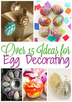 Decorating Easter Eggs is far from boring these days. Check out these 15+ ideas for Egg Decorating plus lots of Easter Party Decor and more.