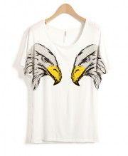 Mirror Olecranon Print T-shirt