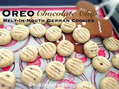 Baking Taitai: Melt-In-Mouth Oreo Chocolate Chip German Cookies  入口即化奥利奥巧克力豆德国酥饼 (中英食谱教程)