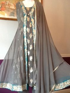 NEW PAKISTANI INDIAN FANCY WEDDING SHAADI SHALWAR KAMEEZ DRESS 3PC LARGE SUIT