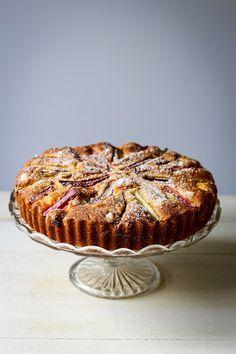 The Spoon and Whisk: Rhubarb and Custard Cake Rhubarb And Custard, Custard Cake, Pinterest Images, Red Fruit, Gluten Free Cakes, Salmon Burgers, Food Styling, Sweet Recipes, Tart