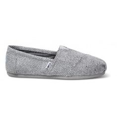 Gray Tweed TOMS