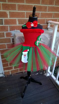 Toddler Christmas Tutu Dress with by PeppersPinkChair on Etsy