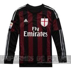 traje AC Milan manga larga