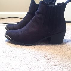 H&M Black Booties Good used condition. I bought new booties so I no longer wear these! H&M Shoes Ankle Boots & Booties
