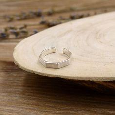 六角旋轉純銀戒指-BLUMA布瑪小鎮設計師手作銀飾&復古飾品-