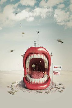 Print Advertising : Colgate Total: Mighty Mouth Print Advertising Campaign Inspiration Colgate Total: Mighty Mouth Advertisement Description Colgate Total: Mighty Mouth Don't forget to share the post, Sharing is love ! Creative Advertising, Print Advertising, Advertising Campaign, Ads Creative, Creative Director, Archive Magazine, Ad Of The World, Plakat Design, Dental Art