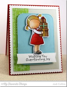 Overflowing Joy stamp set and Die-namics, Nordic Knits, Blueprints 20 Die-namics, Stitched Rounded Rectangle STAX Die-namics - Jodi Collins #mftstamps