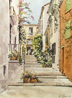 David Shiers.   Old Town, Collioure
