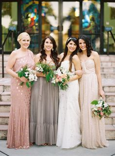 Grey BHDLN bridesmaid dress | photo by Jessica Loren | 100 Layer Cake