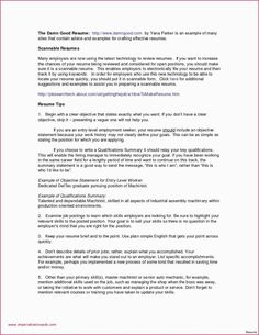 With Summary | 4-Resume Examples | Resume, Resume examples, Writing