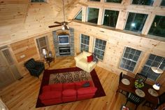 Linville Log Home Series built by Blue Ridge Log Cabins #modularcabin #modularhome #loghome #moderncabin