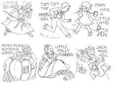 Vintage Hand Embroidery Pattern 8086 Mother GOOSE for Blocks 1940s | eBay