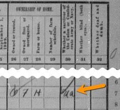 3 Clues for Discovering Military Service| 3. Census Records| We can get so focused on the names and relationships in the census that we skip looking at the whole record. Question 30 (yes, 30!) on the 1910 census lists whether the person was a veteran of the Union Army (UA), Union Navy (UN), Confederate Army (CA), or Confederate Navy (CN). Below shows what you're looking for: