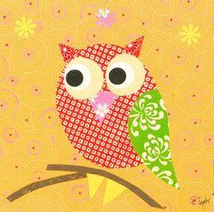'Mod Owl on Orange' by Rachel Taylor