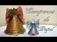 ▶ DIY : Campana de papel periódico para decorar esta Navidad - YouTube