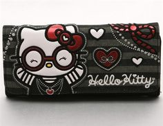 Hello Kitty Round Glasses Wallet