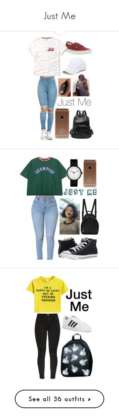 """Just Me"" by amirah-lockett ❤ liked on Polyvore featuring Sole Society, Vans, Converse, Chicnova Fashion, STELLA McCARTNEY, Current Mood, adidas, accessories, hair accessories and hair"