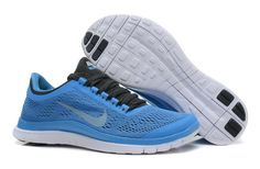 Distance Blue Black Chambray Blue White Nike Free 3.0 V5 Women\u0026#39;s Shoes