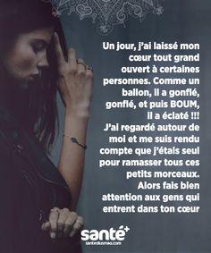 #Citations #vie #amour #couple #amitié #bonheur #paix #Prenezsoindevous sur: www.santeplusmag.com Dark Quotes, Best Quotes, Love Quotes, French Quotes, Let Them Talk, Some Words, Positive Attitude, Proverbs, Decir No