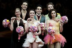 Anna Cappellini & Luca Lanotte (🇮🇹), Kaitlyn Weaver & Andrew Poje (🇨🇦), and Nathalie Péchalat & Fabian Bourzat (🇫🇷)  2014 Saitama 🇯🇵