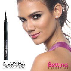 Líneas perfectas para miradas espectaculares. Todos los estilos son posibles con el In Control Precision Ink #Liner de #Bettina. #makeup