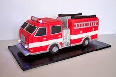 3D Fire Truck Cake Tutorial