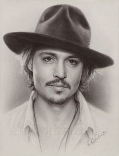 Johnny Depp Speed drawing portrait in dry brush technique by artist Igor Kazarin. Realistic Pencil Drawings, Amazing Drawings, Horse Drawings, Art Drawings, Celebrity Drawings, Celebrity Portraits, Johnny Depp, Dry Brush Technique, Graphite Art