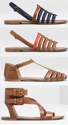 Qué sería del verano sin ellas: sandalias planas 2014