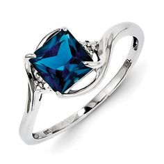 Diamond & Blue Topaz Ring in Sterling Silver - Square - Grand - Polished Finish GemAffair,http://www.amazon.com/dp/B00I0ZAK1G/ref=cm_sw_r_pi_dp_3lUltb03NBG8EYWF