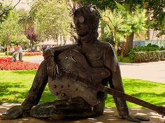 A statue in memory of the wonderful JOHN LENNON