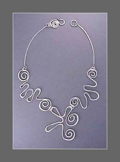 Matisse necklace by Connie Fox. #wire #jewelry