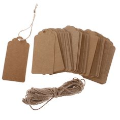 100 Pcs//Set Blank Kraft Paper Hang Tags For Luggage Wedding Label Gift Cards MA