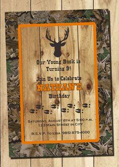 Hunting Invitation Hunter Invitation Deer Hunting Invitation Deer