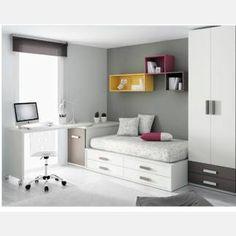 Vendo armario habitación juvenil impecable 2 puertas + 2 cajones color crema/chocolate 238x78,5 cm. BARCELONA 250€