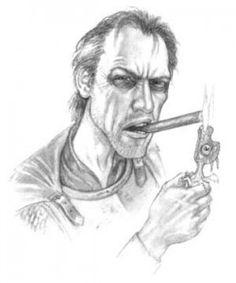 Commander Sam Vimes, by Paul Kidby [Pratchett's Women III: Werewolf Glamour & the Sexing of Dwarves]