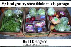 This is a MODEST image of the amounts of food grocery store employees reluctantly throw in a dumpster everyday.