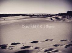 Footprints in the dunes, Oregon