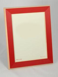 #portafoto in legno con cornice colorata #rossa. Artigianato Italiano.