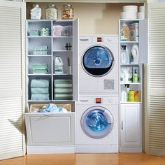 """Laundry Tower/Utility Cabinet $120 Laundry Tower: 12-1/4""""W x 11-1/2""""D x 71-1/2""""H"""