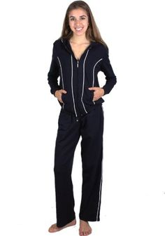 G2 Chic Women's 2-Piece French Terry Tracksuit with Contrasting Stripe Design for only $24.19 You save: $72.76 (75%)