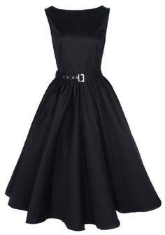 Lindy Bop Vintage 50S Audrey Hepburn Style Swing Party Rockabilly Evening Dress Black Medium, Classy Vintage Audrey Hepburn Style Swing Dress From Lindy Bop. A Petticoat Will Be Required To Get The Look In The Picture. Check Out Our Other Listingds For The Petticoat. Fastenings: Hidden Side Zi..., #Apparel, #Night Out & Cocktail, $71.99