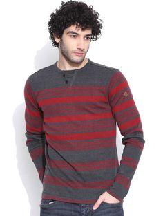 Dream of Glory Inc. Charcoal Grey Striped T-shirt