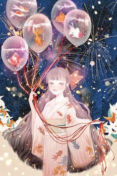 balloon girl illustration