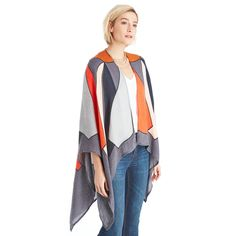 "Sole Society ""Lightweight Geo Print Cape"", $36.95"