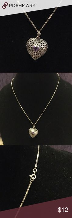 Amethyst Heart Necklace 🌸 Welcome and thank you for checking out my closet 🌸  Please read below if you are interested in the item:  All items are 💯% Authentic!   Always open to reasonable offers and possible trades.   🛍 Up for sale: excellent condition. Beautiful Jewelry Necklaces