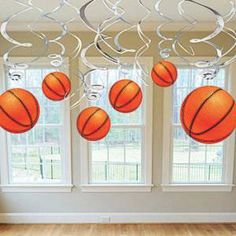 The Basketball Dangler Value Pack allows you to decorate for your favorite sport! Each Basketball Value Pack Swirl Decoration includes cut outs. Basketball Birthday Parties, Sports Birthday, Sports Party, Boy Birthday, Birthday Ideas, Birthday Stuff, Basketball Baby Shower, Baby Boy Shower, Basketball Wedding