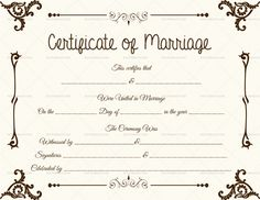 Free Presentation: Discover His Secret Obsession Certificate Format, Wedding Certificate, Marriage Certificate, Certificate Design, Certificate Templates, Certificates Online, Printable Certificates, Thoughtful Wedding Gifts, Wedding Script