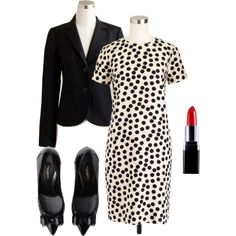 Conference Outfit by gardekm on Polyvore featuring polyvore, fashion, style, J.Crew and Dolce&Gabbana
